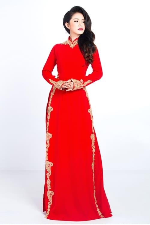 Mẫu áo dài đẹp lộng lẫy cho cô dâu