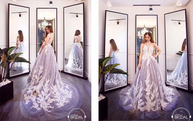 mẫu váy cưới mày tím đẹp mơ màng