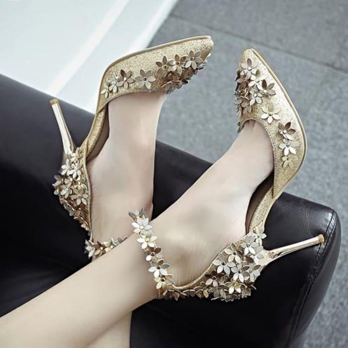 giày cưới đính hoa đẹp