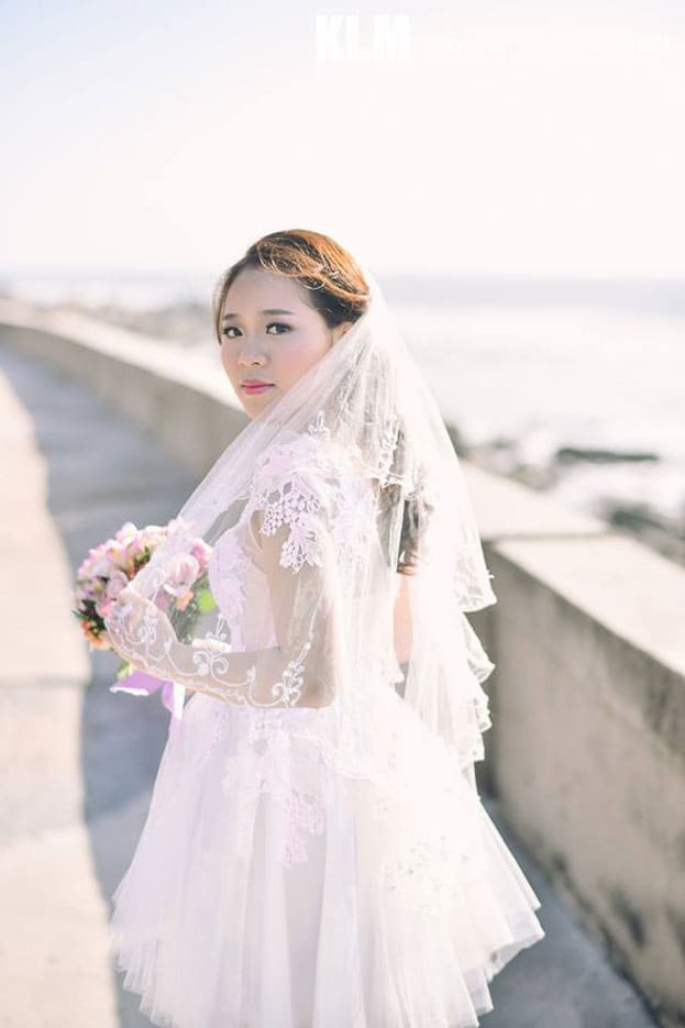 mái tóc đẹp trong ngày cưới