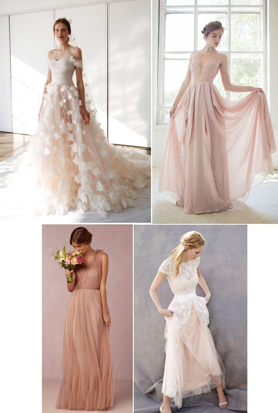 tông màu váy cưới trong mùa cưới 2017