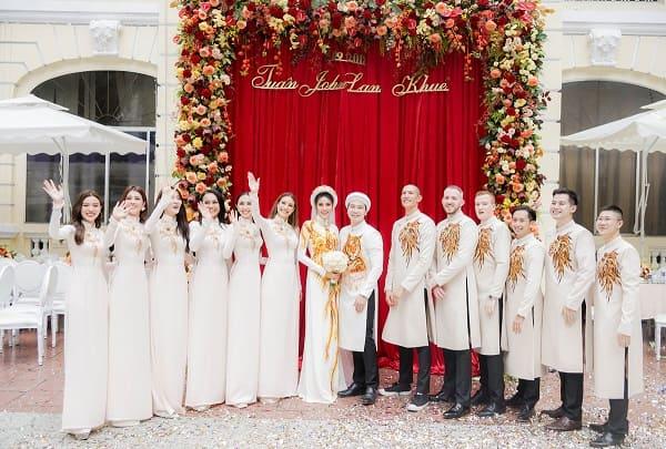 áo dài cưới Lan Khuê