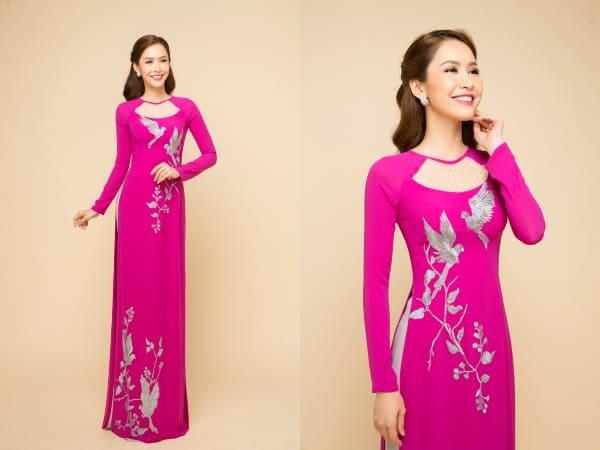 áo dài màu tím