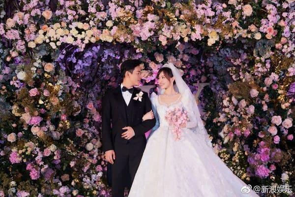 Váy cưới lộng lẫy dài hơn 4 mét trong ngày vui của Đường Yên