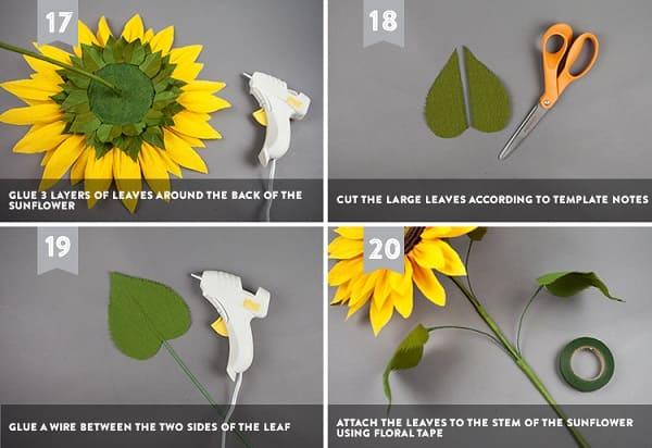 Hoa cưới bằng giấy nhún 3