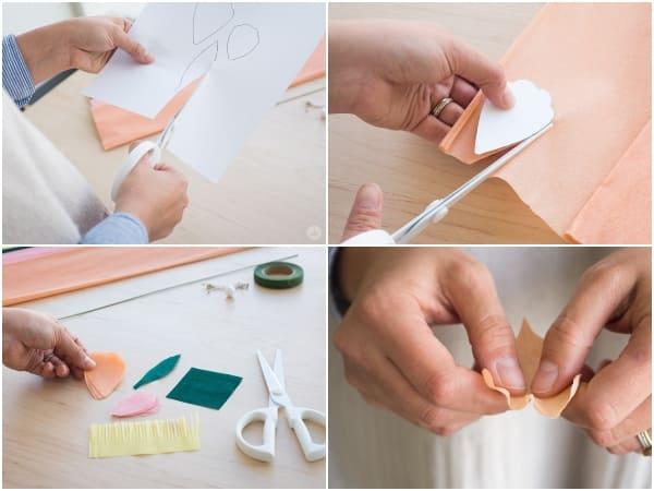 làm hoa cưới bằng giấy nhún 3