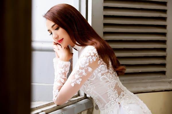 kiểu tóc cô dâu mặc áo dài