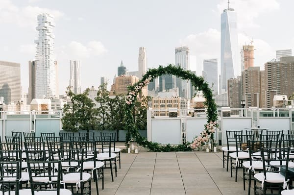Sân khấu đám cưới rooftop