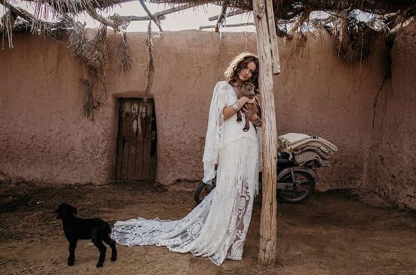 váy cưới bohemian 14