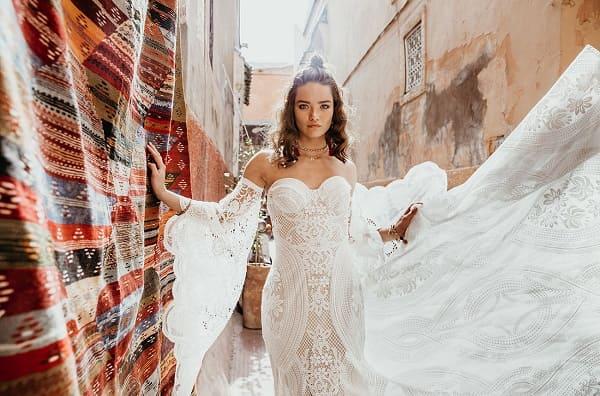 váy cưới bohemian 2