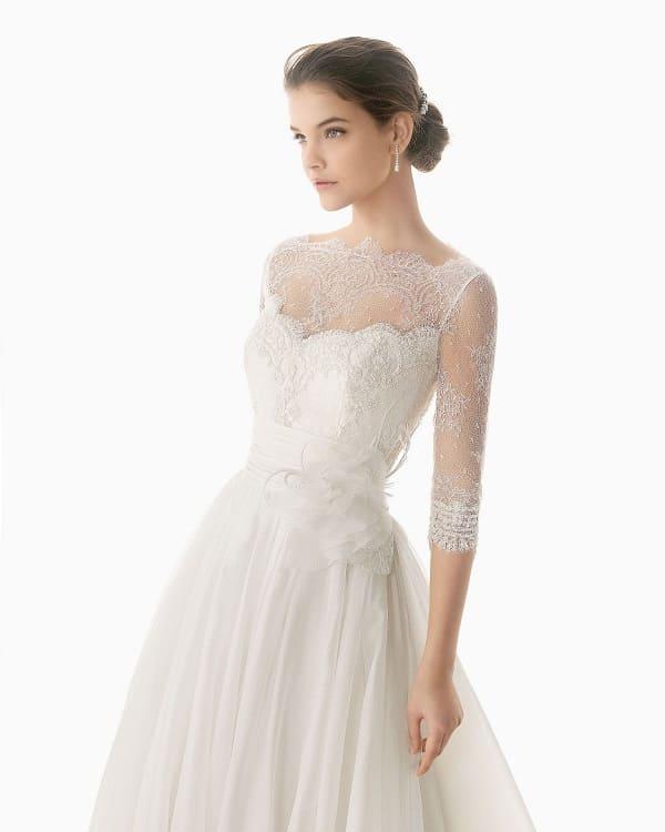 Váy cưới có tay 4