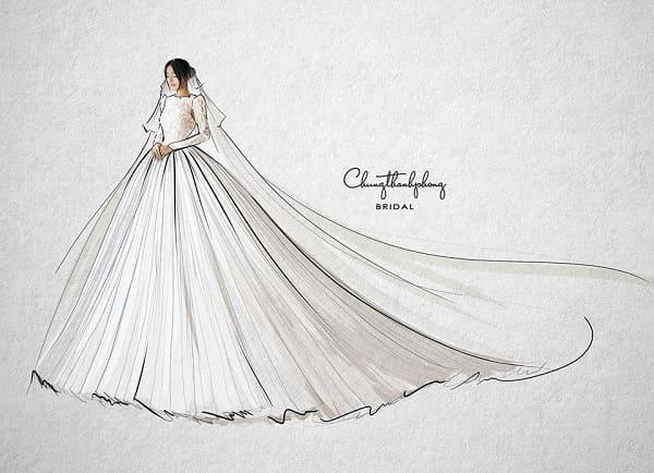 váy cưới Nhã Phương