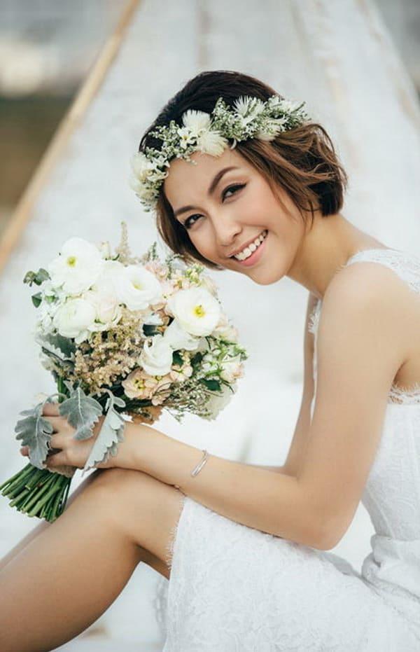 xu hướng tóc cưới cô dâu tóc ngắn 3