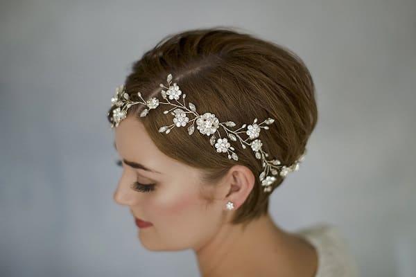 xu hướng tóc cưới cô dâu tóc ngắn 1