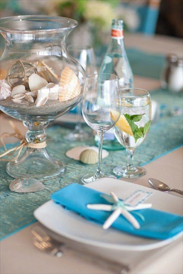 trang trí bàn tiệc cưới ở biển 3